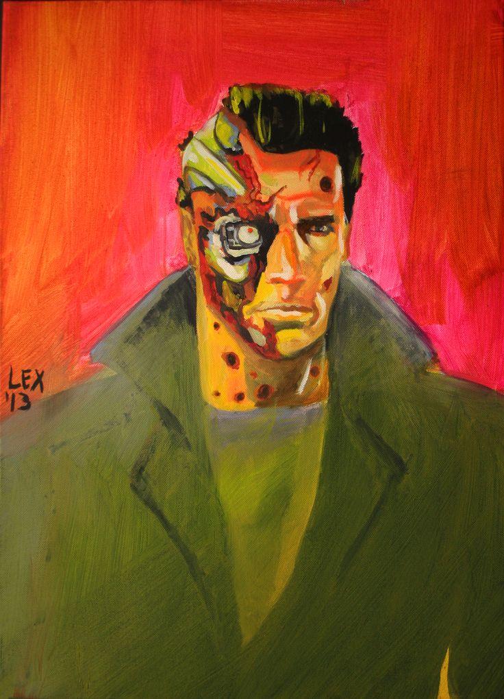 The Terminator. Oil On Canvas 16 X 20