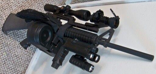 AR 15 with custom 100 round drum | ARs | Pinterest | AR-15 ...