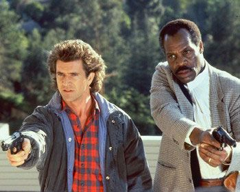 Martin Riggs & Danny Glover: Mel Gibson & Danny Glover: Lethal Weapon