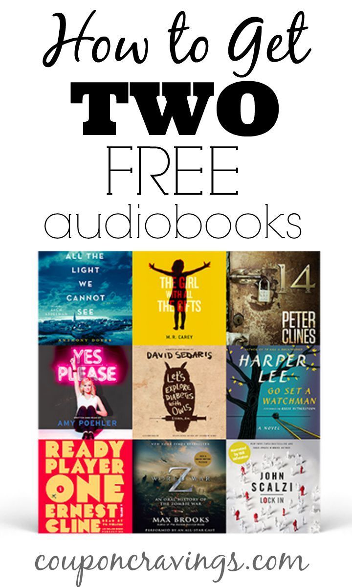 Get Two Free Audiobooks Get Things To Pass Time On Travel And Great For The Kids To Learn How To Read Too No Com Freebies By Mail Audiobooks Free Baby Stuff