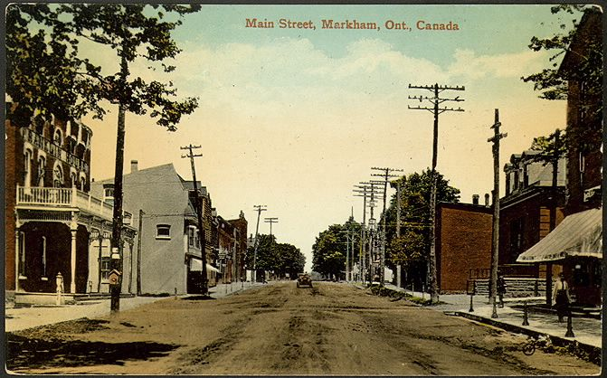 A postcard from 1910 depicting Main Street, #Markham.  #Ontario #Canada