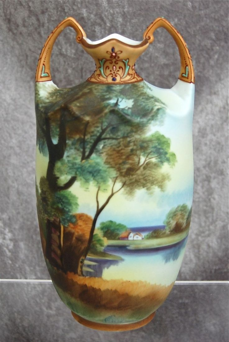 144 best nippon images on pinterest noritake flower vases and noritake nippon matte painted scenic 10 vase ca 1910 reviewsmspy