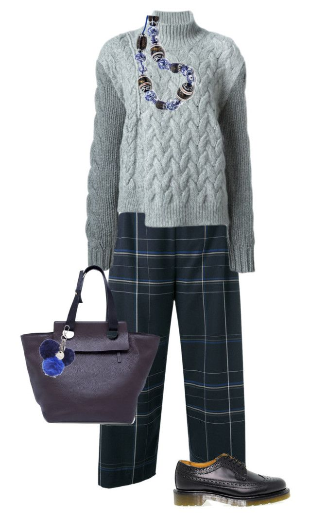 knit set by justyna-kowalcze on Polyvore featuring moda, STELLA McCARTNEY, Stephan Schneider, Dr. Martens, Marni and Nine West