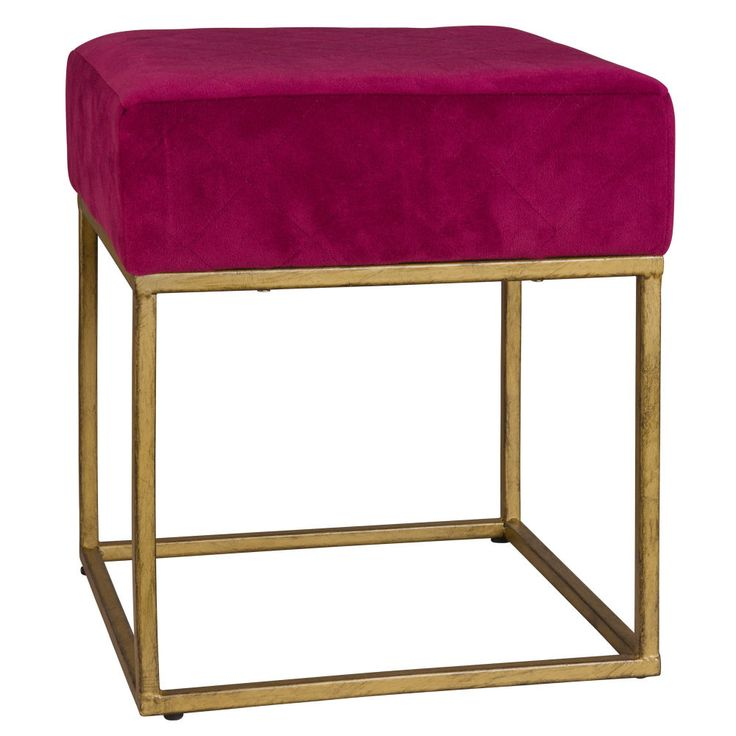Purple Fabric Stool