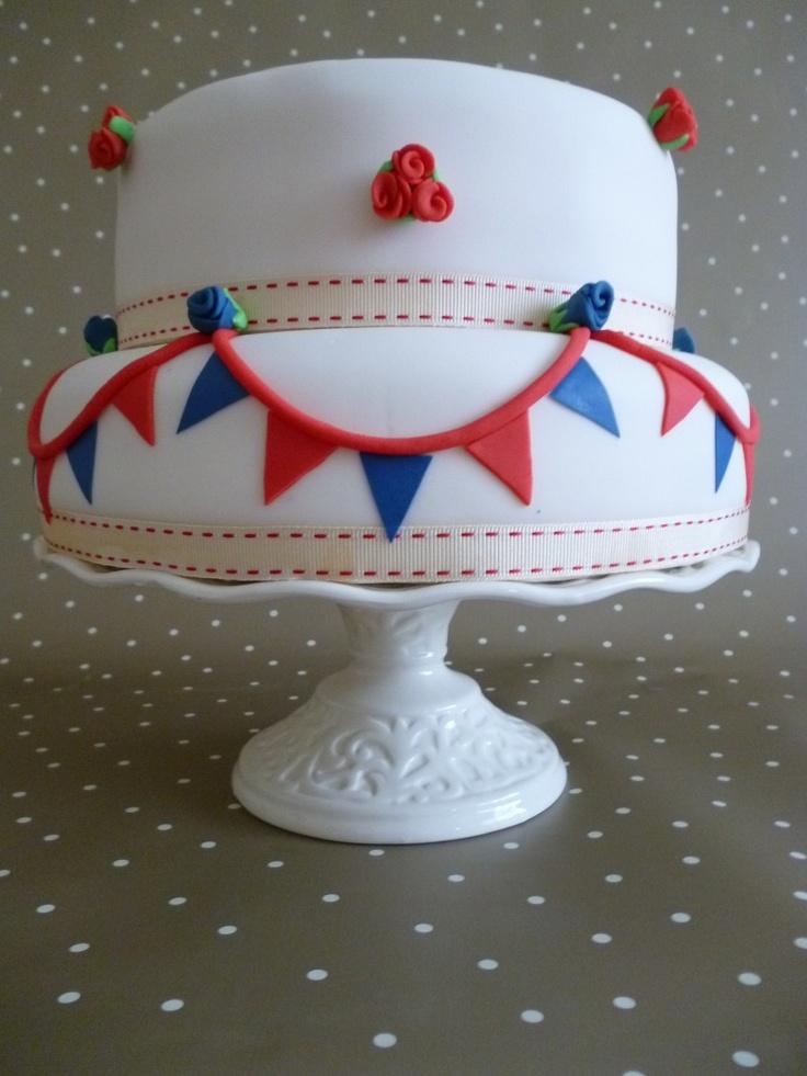 Bunting cake | Bunting { Cakes } | Pinterest