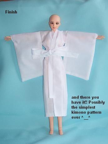 Easy Doll Kimono on Deviant Art.  I made one for my Tonner doll.  GORGEOUS!