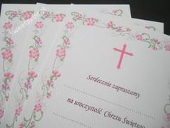 zaproszenia na Chrzest / Pierwszą Komunię