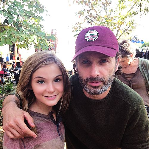 """TBT to last day of filming TWD. Both Andrew & Norman came to set just to support us. They're the best!"" Brighton Sharbino"