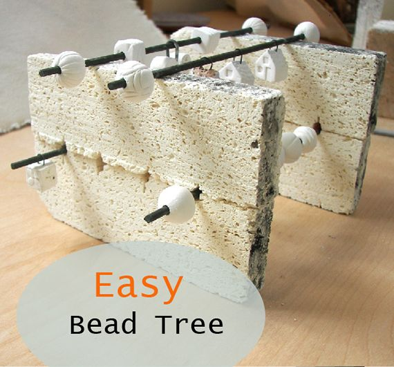 A ceramic bead tree is a good idea if you want to fire a lot of beads. I decided it was time to get one, and was not surprised that they were expensive. I found some awkwardly shaped, didn't stack, and seemed to waste a lot of space. Instead I purchased large gauge bead wire …