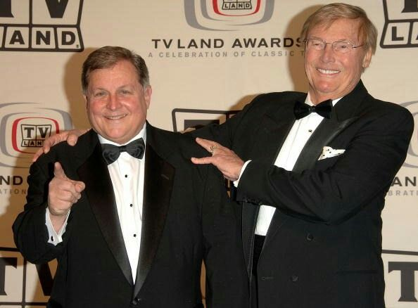 Adam West (r) and Burt Ward today. As of 2017, Adam is 88 and the boy wonder is 71.