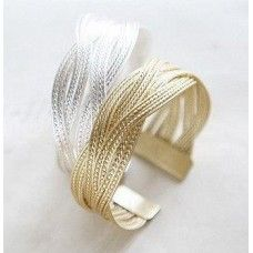 Weaved Cuff - Silver or Gold