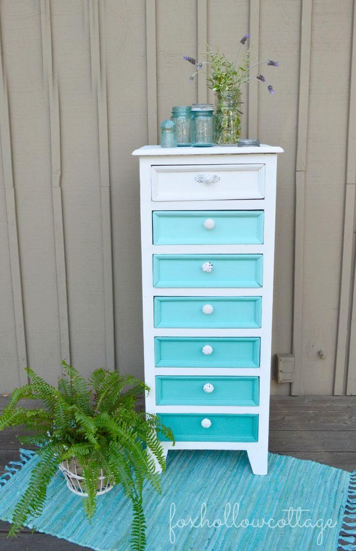 Maison Blanche Vintage Furniture Paint  -- #paintedfurniture #diy #makeover #ombre