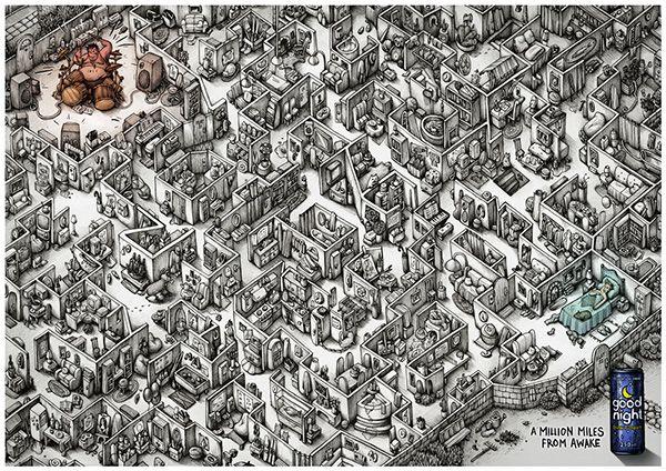 Maria Tiurina's Incredibly Intricate Drawing for Saatchi & Saatchi ME - Artists Inspire Artists
