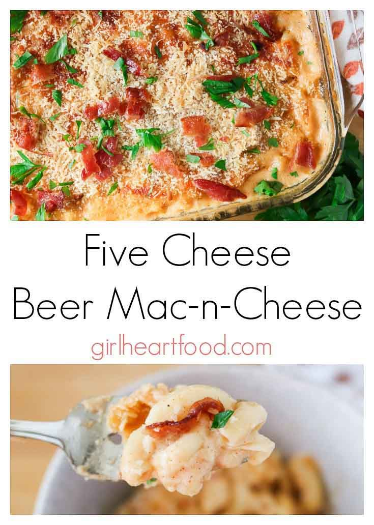 Creamy Baked Mac And Cheese With 5 Cheeses Beer Bacon