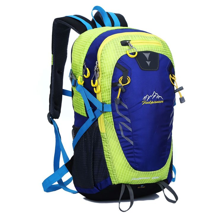 FEEL PIONEER Polyester Outdoor Waterproof Backpack Sports Bag Hike Camping Travel Packs Rucksack 40L Free Shipping