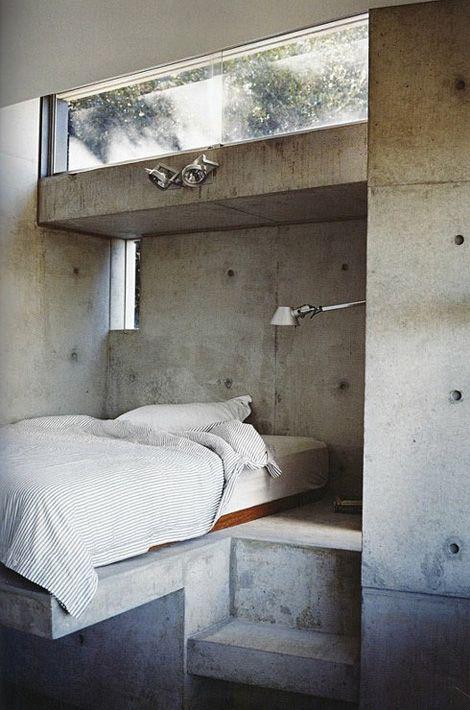 #Minimal #Concrete #Bedroom