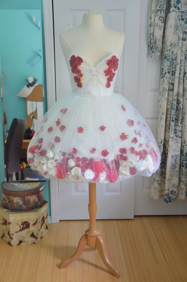 Diaphanous Flower Dress, PartOne