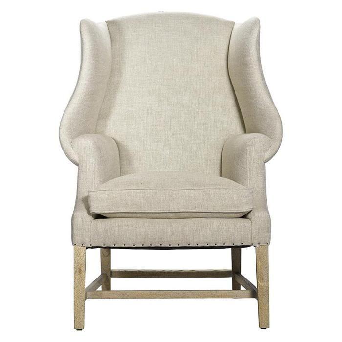 New Age Linen Chair In Beige