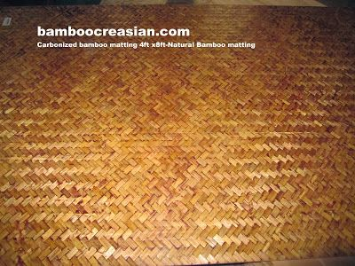 Quality Bamboo and Asian Thatch: Bamboo natural matting-4'x8'tropical~natural bamboo mats-Best collect of bamboo mats-Our bamboo matting- a best natural covering ceiling walls tropical wainscot paneling.