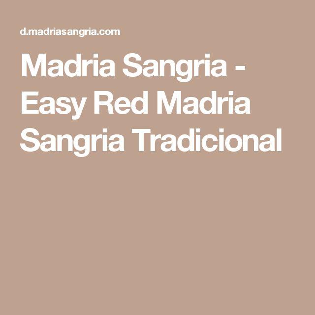 Madria Sangria - Easy Red Madria Sangria Tradicional