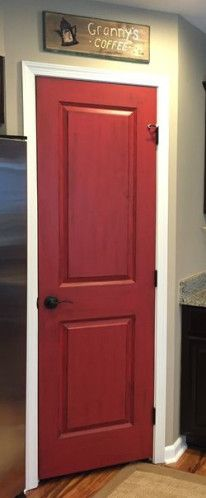 Pantry Door Idea | tamcam10 | Red Painted Door | DIY | New House | Walk in Pantry |