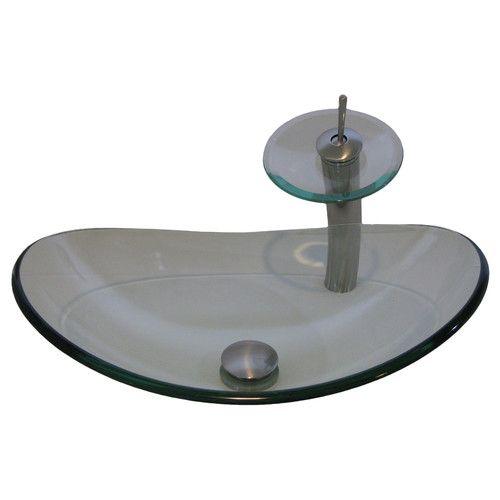 Found it at Wayfair.ca - Chiaro Glass Slipper Vessel Bathroom Sink Set