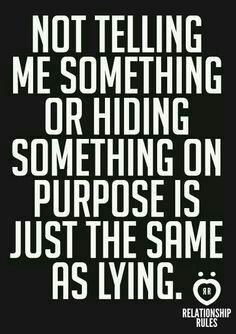So why hide?