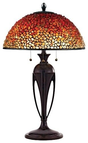 Products Tiffany Lamps. Love the lines on this lamp, and the graded color on the shade.