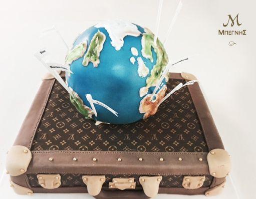 Όταν λέμε ότι δημιουργούμε γεύσεις που σας ταξιδεύουν. το εννοούμε!  Μια ξεχωριστή τούρτα γενεθλίων για τους λάτρεις των αποδράσεων, από τη Μπεγνής!