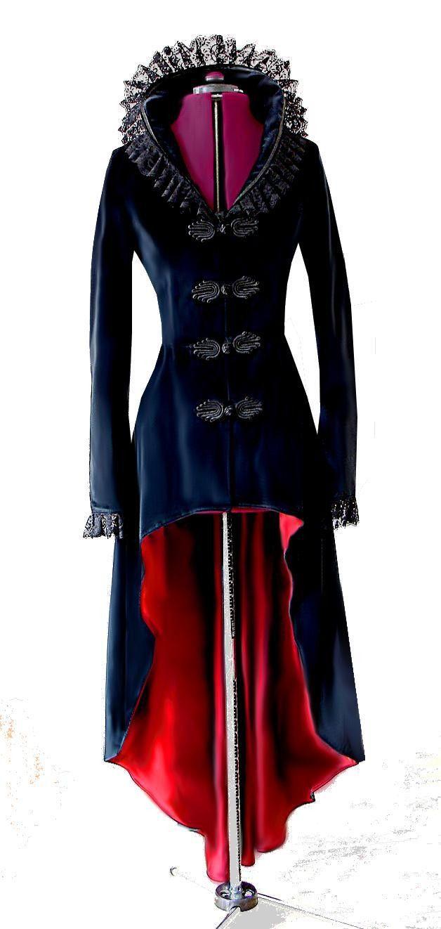black velvet winter coat with beautiful lace collar....love <3