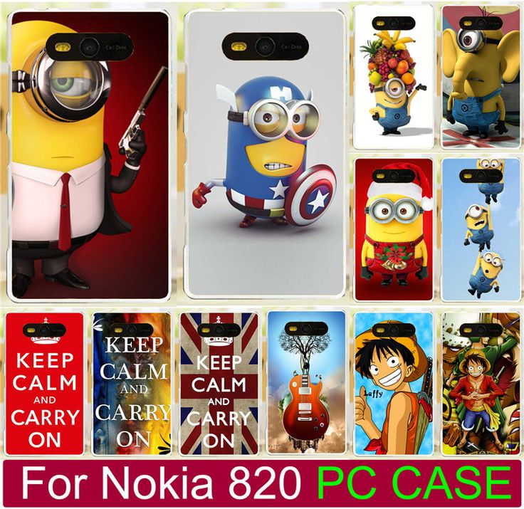 Cute Cartoon Despicable Me Yelllow Minions Piece Cell Phone Case For Nokia Lumia 820 N820 Hard Phone Case Back Cover Shell Capa #Affiliate