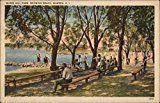 #6: Burrs Hill Park Showing Beach Warren Rhode Island Original Vintage Postcard