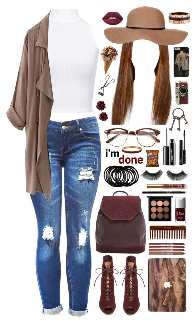 """""""i'm done."""" by dyciana ❤ liked on Polyvore featuring WearAll, Topshop, CARGO, (MALIN+GOETZ), MAC Cosmetics, Urban Outfitters, Gianvito Rossi, Lime Crime, Christian Dior and Leica"""