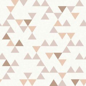 UN3104-Debranche-Geometrique-triangles-Beige-Cuivre-amp-Peche-Galerie-Papier-peint