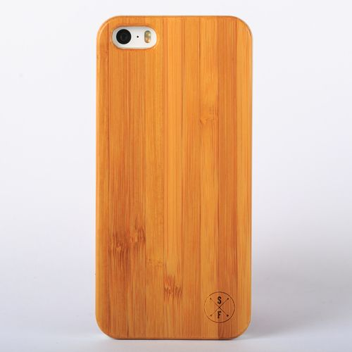 Bamboo Cabot Case - White iPhone 5/5S - Composed of a solid piece of bamboo with a polycarbonate shell, this unique case offers protection from harmful elements and scratches. Plus, 20% of the sale goes to charity and 1 tree is planted per product sold!