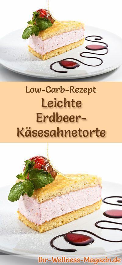 Lightweight Low Carb Strawberry Cheesecake – Rezept ohne Zucker