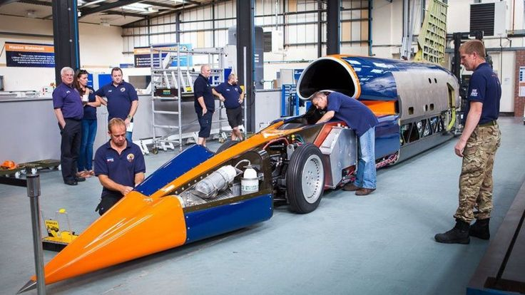 """The Bloodhound 1,000mph car will conduct some """"slow speed"""" runs at Newquay airport in Cornwall."""