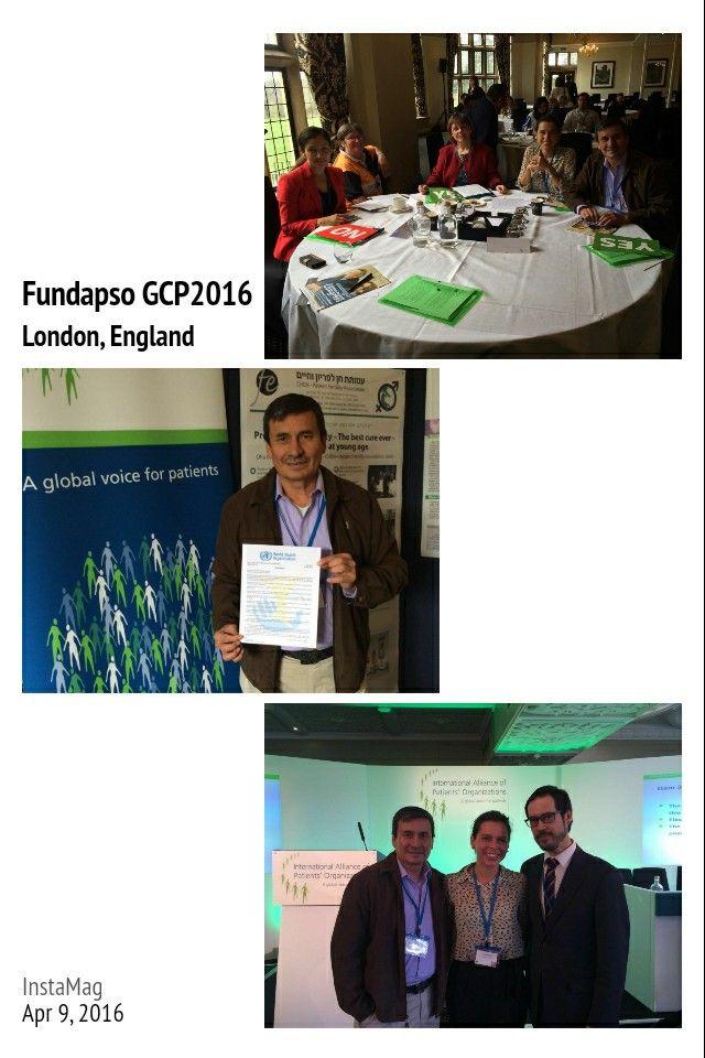 @FUNDAPSO haciendo presencia en 7th Global Patients Congress #GPC2016 #fundapso @IAPOvoice