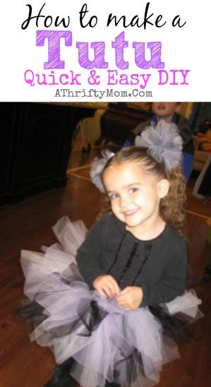 How to make a tutu, easy DIY Halloween costumes, #Tutu, #DressUpClothes
