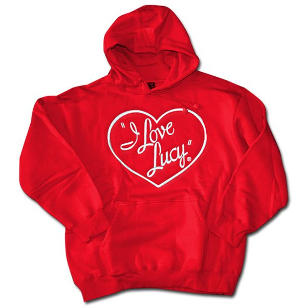 I Love Lucy Red Hooded Sweatshirt   LucyStore.com