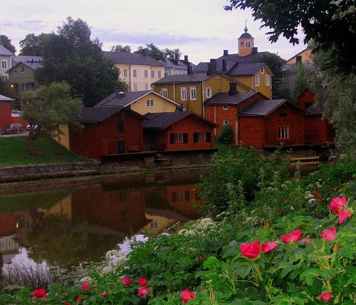 Beautiful picture of Porvoo, Finland