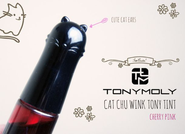 Tonymoly Cat Chu Wink Tint review & swatch #tonymoly #cute #kawaii