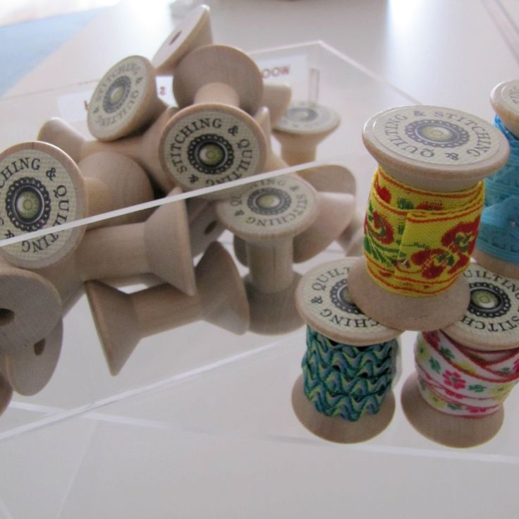Wooden Spools (pack of 5) Large size by The Haby Goddess