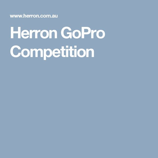Herron GoPro Competition
