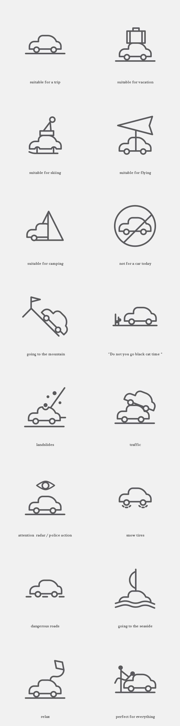 Free Icons for the Weather Situations by s-pov spovv, via Behance