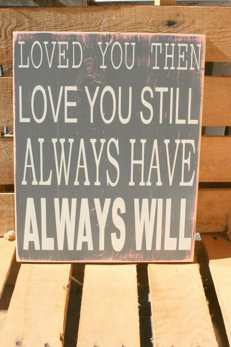 LOVE quote hand painted and distressed wood sign