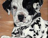 #Pet Portraits - #8 x 10 Acrylic on Canvas TheBackyardBear at Etsy.com