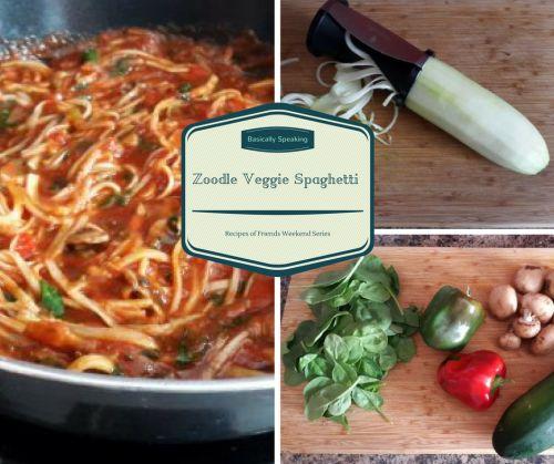 Zoodle Veggie Spaghetti Recipe #Recipe #Foodblog #RecipeOfFriends #Familytime #LowCarbRecipes