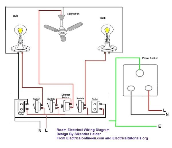 simple electrical wiring diagram  electrical circuit