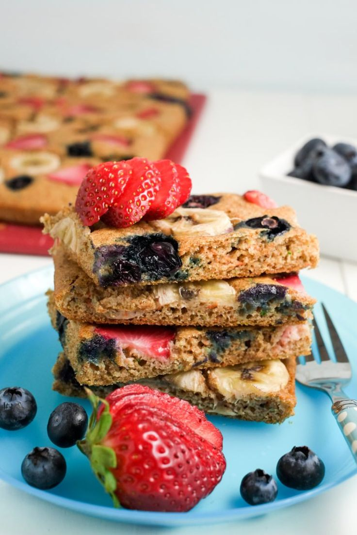 Recipe Round-up: Issue 40 for 2017 - Sheet Pan Pancakes (image and recipe credit www.superhealthykids.com)  - #ReImagineDieting Sign up for more weight loss recipes like this at fullplateliving.org